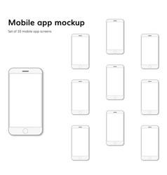 mobile application screens mockup vector image vector image