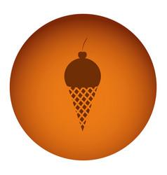 orange emblem ice cream icon vector image
