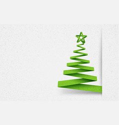 Paper tree green vector image vector image