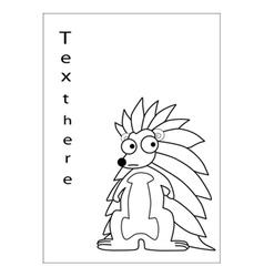 Porcupine cartoon vector image