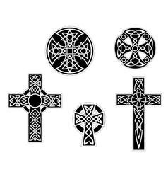 Set of vintage celtic crosses vector image vector image