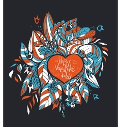 sketchy love and hearts doodles vector image vector image