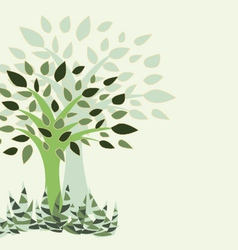 tree and grass - vector image