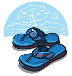 beach shoes vector image vector image