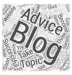 Blogging advice word cloud concept vector