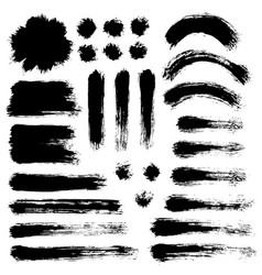 brush strokes set 9 vector image vector image