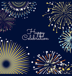 fireworks background with vector image