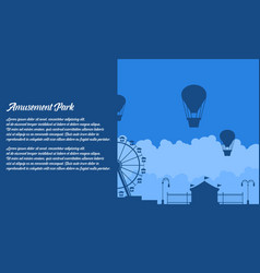 flat amusement park background vector image vector image
