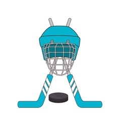 hockey sport emblem icon vector image