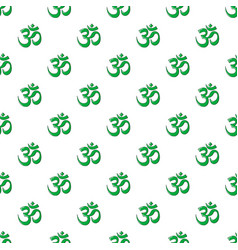 Om symbol of hinduism pattern seamless vector