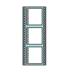 tape roll cinema isolated icon design vector image vector image
