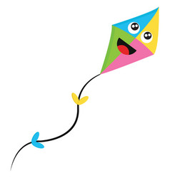 A colorful laughing kite or color vector