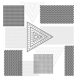 abstract background with squares and triangles vector image