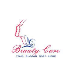 beauty care logo design concept icon vector image