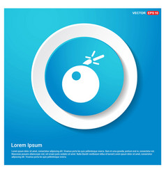 Bomb icon abstract blue web sticker button vector