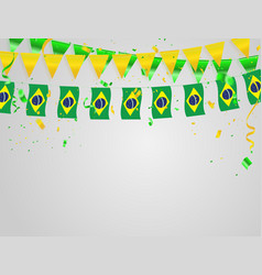 Brazil flags celebration background template with vector
