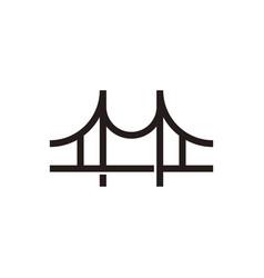 Bridge icon outline silhouette vector
