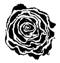 Brush painted wave pattern black and white floral vector