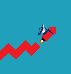 businessman startup and growing graph start up vector image