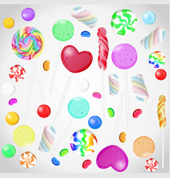 candy collection on white isolated background vector image