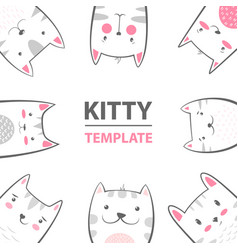 cat kitty characters - cartoon template vector image