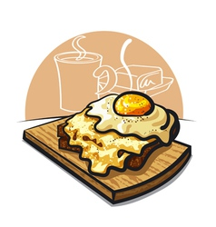 Cheese toast vector