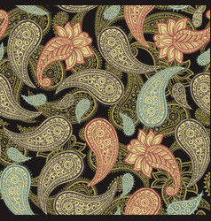 classic native paisleys seamless pattern vector image