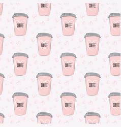 coffee romantic pattern restaurant business vector image