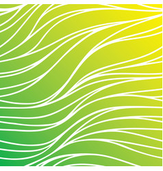 color hand-drawing seamless wave background green vector image