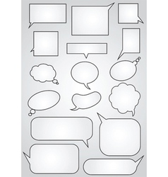 Comic bubbles vector