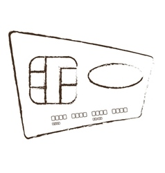 Credit card global bank sketch vector