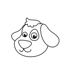 Dog cartoon drawing head vector