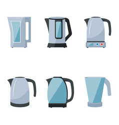 electric kettles vector image