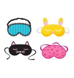 eye mask sleeping night accessory relax vector image