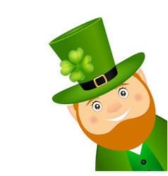 Funny leprechaun for st patrick day vector