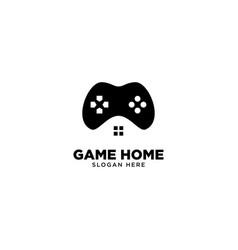Game home logo design vector