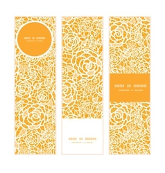 golden lace roses vertical banners set pattern vector image