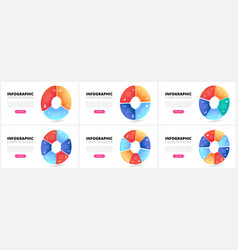 gradient circles business template vector image