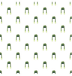 Green hat pattern vector
