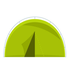 green touristic camping tent icon isolated vector image