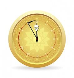 Halloween clock vector