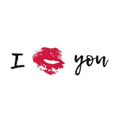 hand drawn fashion lipstick kiss vector image
