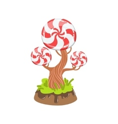 Hard Candy With Classic Swirl Pattern Tree Fantasy vector image