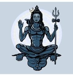 Hindu god Shiva vector image