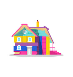 House made of books for children education concept vector