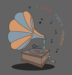 i love retro music vector image