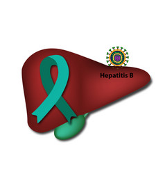 jade ribbon liver hepatitis b world hepatitis day vector image