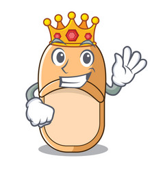 King casual home slippers on mascot style vector