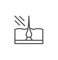 Laser hair removal line icon vector