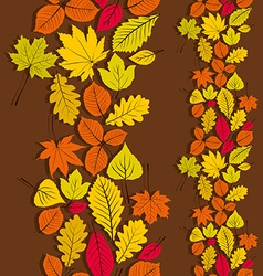 Leaves seamless wallpaper background natural vector image